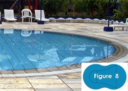 Complete 20'x40' Figure 8 In Ground Swimming Pool Kit with Polymer Supports
