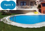 Complete 20'x40' Figure 8 In Ground Swimming Pool Kit with Wood Supports