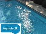 Complete 20x40 Keyhole 2R InGround Swimming Pool Kit with Steel Supports