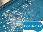 Complete 20x40 Keyhole Full R In Ground Swimming Pool Kit with Wood Supports