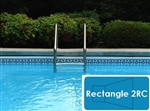 Complete 20'x40' Rectangle 2RC In Ground Swimming Pool Kit with Steel Supports