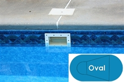 Complete 20'x41' Oval In Ground Swimming Pool Kit with Steel Supports