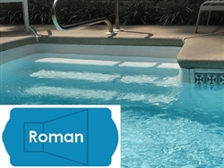 Complete 20'x42' Roman InGround Swimming Pool Kit with Steel Supports