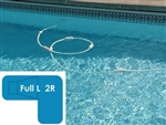 Complete 20x44x30 Full L 2R InGround Swimming Pool Kit with Steel Supports