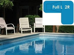 Complete 20x44x30 Full L 2R InGround Swimming Pool Kit with Wood Supports
