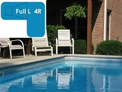 Complete 20x44x30 Full L 4R In Ground Swimming Pool Kit with Steel Supports