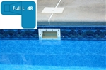 Complete 20x44x30 Full L 4R In Ground Swimming Pool Kit with Wood Supports