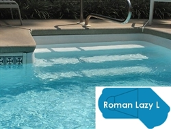 Complete 20'x49' Roman Lazy L  InGround Swimming Pool Kit with Polymer Supports