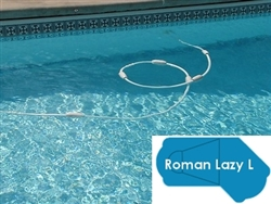 Complete 20'x49' Roman Lazy L  In Ground Swimming Pool Kit with Steel Supports