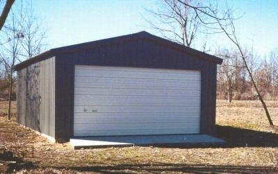 20 x 24 x 10 steel frame shed garage building kit