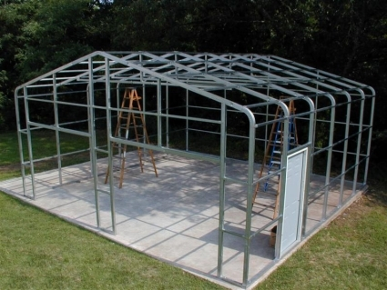 carports shed me to uk w steel free aimar garage plans kit enclosed lean s