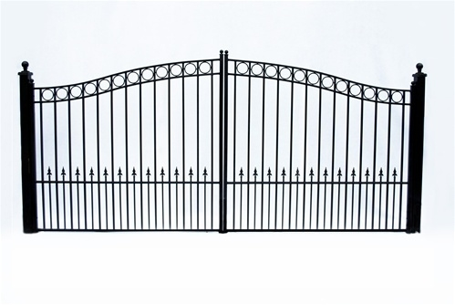 Paris Dual Swing Iron Driveway Gate 12' x 6'3