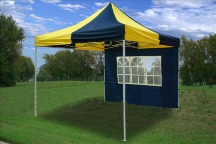 10u0027 x 10u0027 Pop Up Blue u0026 Yellow Party Tent & x 10u0027 Pop Up Blue u0026 Yellow Party Tent
