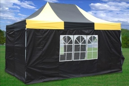 Heavy Duty 10 X 15 Yellow Amp Black Pop Up Party Tent