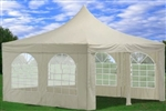 White 13' x 13' Canopy Party Tent