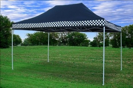High Quality 10x15 Pop Up Canopy Party Tent Gazebo EZ Black Checker & Quality 10x15 Pop Up Canopy Party Tent Gazebo EZ Black Checker