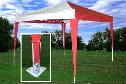 High Quality 10x10 Red White Pop Up Canopy Party Tent Ez Cs