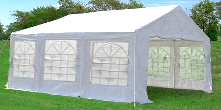 White 10 X 20 Canopy Carport Shade Party Tent