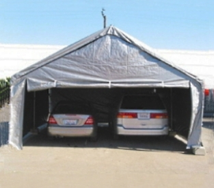 Grey 20u0027 x 20u0027 Heavy Duty Outdoor Canopy Carport & 20u0027 x 20u0027 Heavy Duty Outdoor Canopy Carport