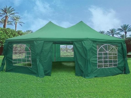 Green 29' x 21' Octagonal Wedding Party Gazebo Tent Canopy