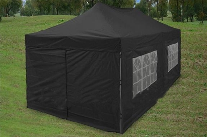Black 10u0027 x 20u0027 Pop Up Canopy Party Tent & 10u0027 x 20u0027 Pop Up Canopy Party Tent