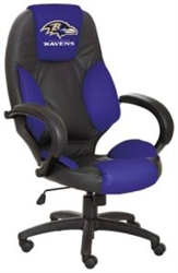 Brand New Baltimore Ravens Commissioner Office Chair - Officially Licensed