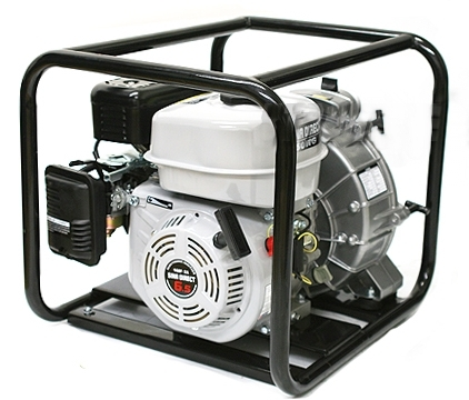 hp gas powered engine watertrash pump   npt thread