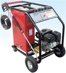 Portable 2500 PSI Hot Water Gas High Pressure Washer