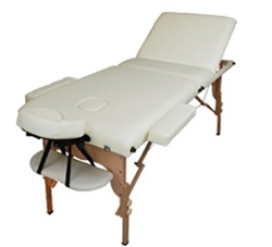 "High Quality 2.5"" Advanced 3-section Beige Portable Massage Table"