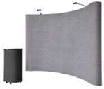 10' Gray Portable Pop Up Trade Show Booth Display Kit w/ Spotlights