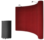 10' Red Portable Pop Up Trade Show Booth Display Kit w/ Spotlights