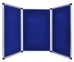 6ft Blue Tabletop Folding 3 Panel Trade Show Booth