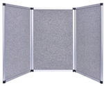 6ft Gray Tabletop Folding 3 Panel Trade Show Booth