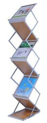 "High Quality 13""x10"" Collapsible Literature Rack Display 6 Pocket w/ Bag"