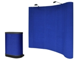 8' FT Blue Pop Up Trade Show Display Booth Podium Case