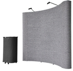 8' Gray Portable Pop Up Trade Show Booth Display Kit w/ Spotlights