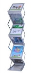 "High Quality 13""x10"" Adjustable Literature Rack Display 6 Pocket w/ Bag"