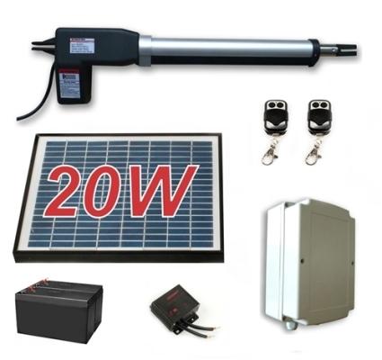 Solar Full Kit Swing Gate Opener For Single Swing Gates