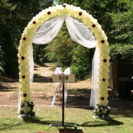 3 White Indoor Outdoor Wedding Arches