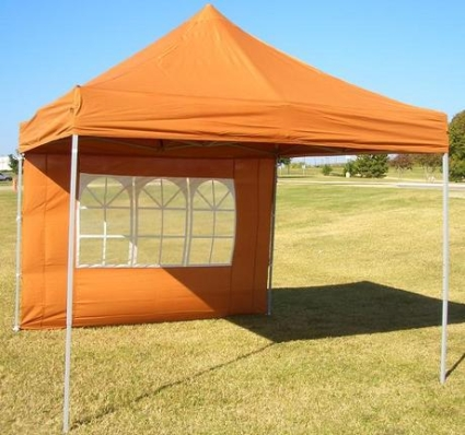 Brunt Orange 10 X 10 Pop Up Canopy Tent