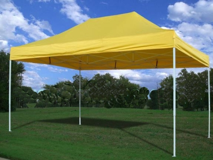 This New 10u0027X15u0027 Easy Pop up Set Canopy package deal is a great no-fuss outdoor shelter. It is Ideal for family parties weddings picnics sports events ... & Heavy Duty 10u0027 x 15u0027 Yellow Pop Up Party Tent