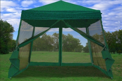 This New 8u0027 x 8u0027 Easy Pop Up Canopy Tent with Net is a great no-fuss outdoor shelter. It is Ideal for family parties weddings picnics sports events ... & 8u0027 x 8u0027 Easy Pop Up Green Canopy Tent with Net