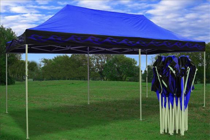 This Blue Flame 10 X 20 Pop Out Tent Is Perfect For Parties Business Use And Any Other Special Occasions Its Bright Colors Design Really Catches