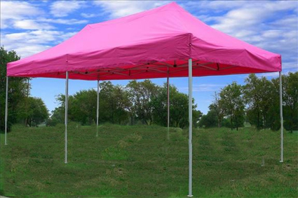 This Poppinu0027 Pink Pop Out Tent is perfect for parties business use and any other special occasion. Its bright colors really catch passeru0027s eyes. & Poppinu0027 Pink 10u0027x20u0027 Pop Up Canopy / Tent
