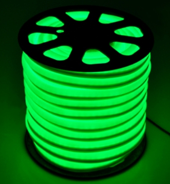 You can upgrade the rope lights for different lengths or several colors with Extra Three 5Ft power cord and Six splice connector sets. & 150u0027 Green Led Outdoor/Indoor Flexible Neon Rope Light azcodes.com