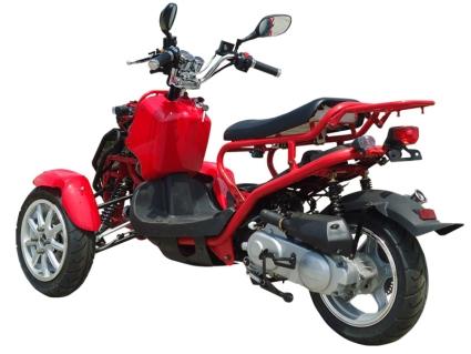50cc Three-Wheel Ruckus Style Trike Scooter Moped