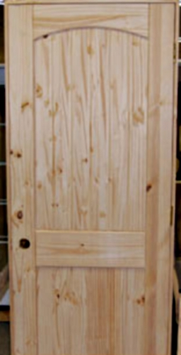 Set Of 4 Unfinished Solid Wood Pre Hung Knotty Pine Interior Doors