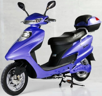blue 500 watt electric scooter. Black Bedroom Furniture Sets. Home Design Ideas