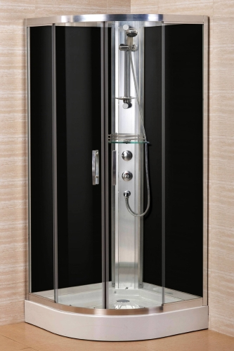 Curved Corner Shower Enclosure Full Chrome Aluminum Frame