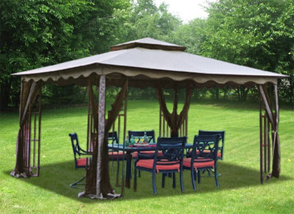 This 10 X 12 Outdoor Gazebo Comes Mosquito Netting Great For Use In The Backyard Or Patio And Is Perfect Choice Parties Barbecues Tailgating